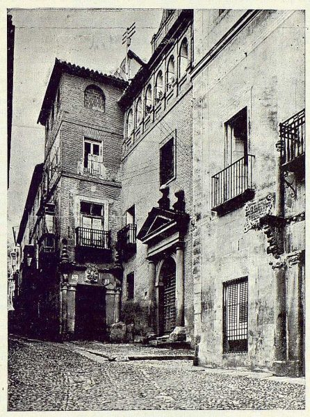 026_TRA-1923-193-Calle de Núñez de Arce , casa donde Santa Teresa escribió Las Moradas-Foto Clavería