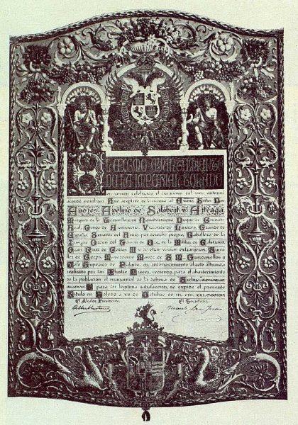 029_TRA-1922-182 - Pergamino dedicado al Marqués de la Torrecilla