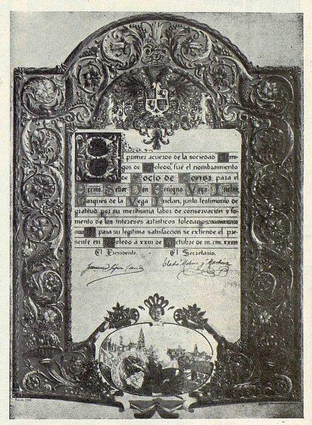 030_TRA-1922-182 - Pergamino dedicado al Marqués de la Vega Inclán