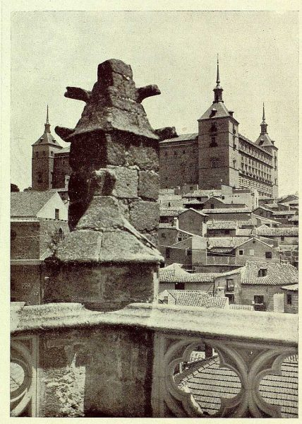 032_TRA-1929-272-Catedral, capilla de San Ildefonso, tejado-Foto Rodríguez