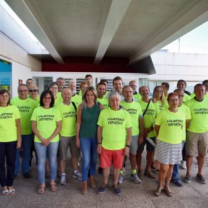 a alcaldesa agradece a los voluntarios de la Vuelta Ciclista a España su colaboración y compromiso con el deporte en la ciudad