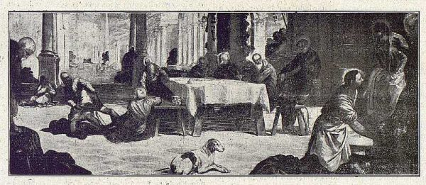 042_TRA-1918-101-Cuadro de Tintoretto, El Lavatorio, Monasterio de El Escorial