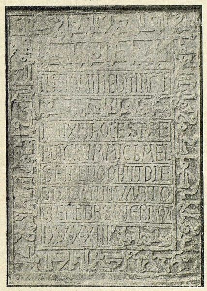 044_TRA-1917-087 - Epitafio bilingüe mozarábigo de Toledo