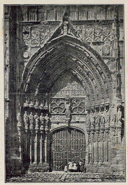 046_TRA-1930-283-284-Palencia, catedral, puerta del Obispo-Foto Clavería