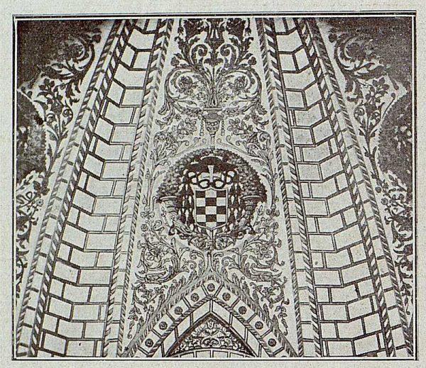 090_TRA-1921-171-Catedral, detalle y decoración de la bóveda de la Capilla Mozárabe-Foto Bermejo