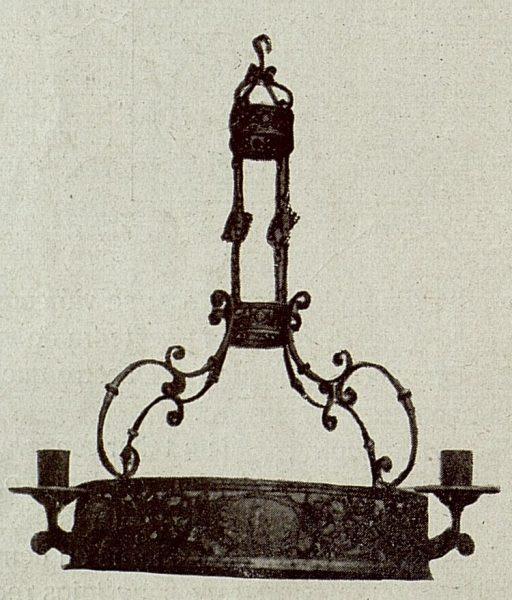 090_TRA-1921-172 - Lámpara de hierro repujado de Julio Pascual - Foto Rodríguez