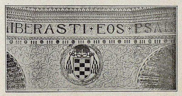 093_TRA-1921-171-Catedral, friso en la bóveda de la Capilla Mozárabe-Foto Bermejo