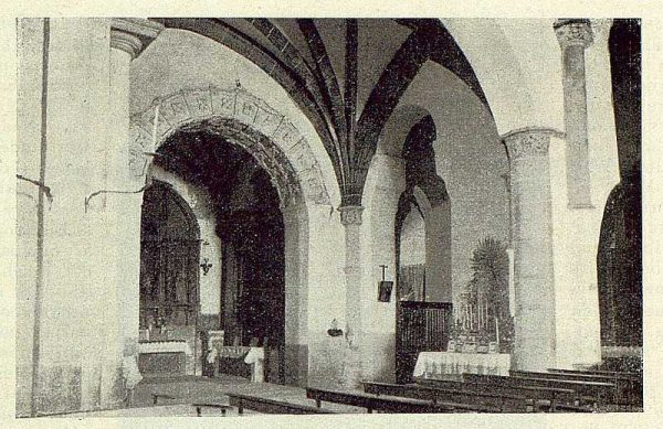 099_TRA-1929-265-Illescas, iglesia de Santa María, nave central-Foto Aguilar