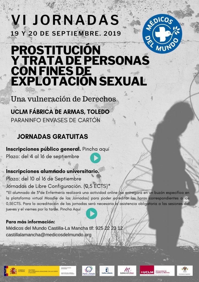 """http://www.toledo.es/wp-content/uploads/2019/09/1-848x1200.jpg. VI Jornadas Prostitución y Trata de personas con fines de explotación sexual: Taller práctico """"Prostitución y trata con fines de explotación sexual: consecuencias para la salud"""""""