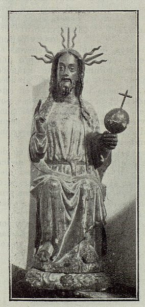 100_TRA-1929-265-Illescas, iglesia de Santa María, talla en madera de El Salvador-Foto Aguilar