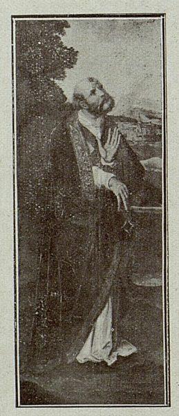 102_TRA-1921-175-Catedral, cuadro de San Pablo en la Capilla Mozárabe de Alfonso Pérez Villoldo
