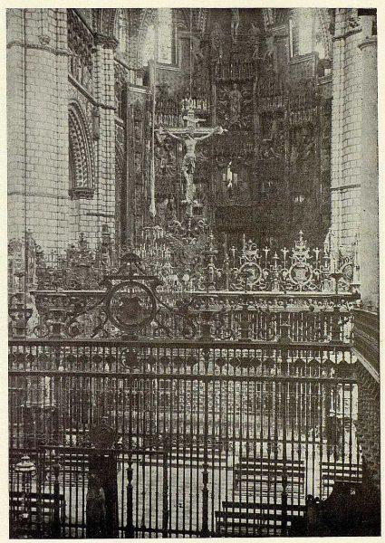 126_TRA-1926-229-Catedral, rejas de la Capilla Mayor y Coro-Foto Clavería