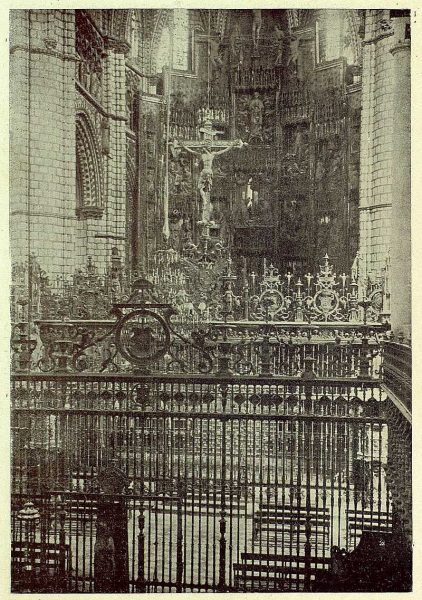 133_TRA-1930-279-Catedral, rejas del Coro y de la Capilla Mayor-Foto Clavería