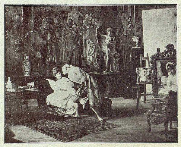 155_TRA-1918-095 - Cuadro de Matías Moreno, Distracción de artista
