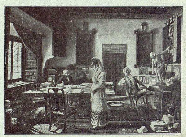 159_TRA-1918-095 - Cuadro de Matías Moreno, Oveja entre lobos