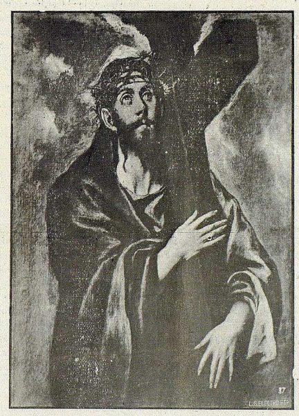 163_TRA-1918-101 - Cuadro de El Greco, Cristo con la Cruz a cuestas