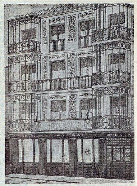 173_TRA-1923-197-Banco Central, sucursal de Talavera, exterior de las oficinas