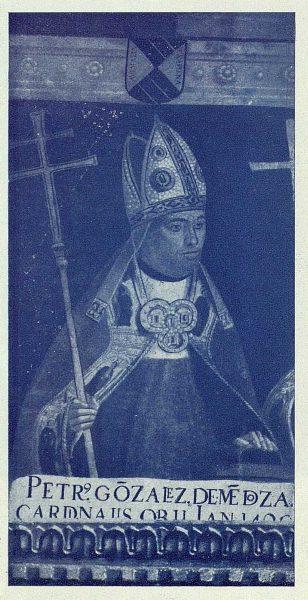 176_TRA-1924-209-Catedral, Sala Capitular, retrato del Cardenal Mendoza-Foto Rodríguez