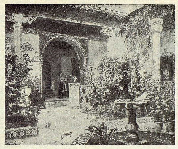 185_TRA-1922-181 - Cuadro de un patio toledano, de Ricardo de Madrazo