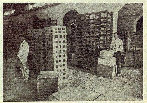 203_TRA-1923-197-César Garcýa y Sobrino, gran fábrica de jabones puros, uno de los talleres de cortado de jabón