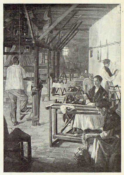 204_TRA-1922-186 - Tejedores, cuadro de Juan Ruiz de Luna
