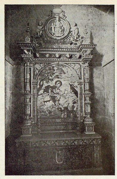 262_TRA-1925-216-Talavera, Museo Ruiz de Luna, altar de la capilla