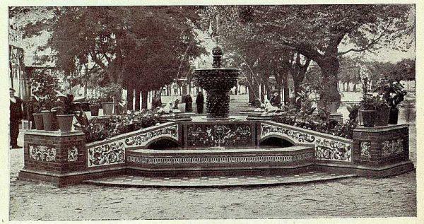 266_TRA-1927-243-Talavera, paseo del Prado, fuente de cerámica de Ruiz de Luna