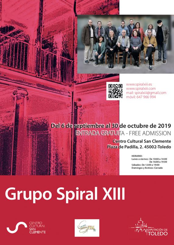 https://www.toledo.es/wp-content/uploads/2019/09/cartel-spiral-xii.jpg. Visita Guiada realizada por los artistas del Grupo Spiral XIII