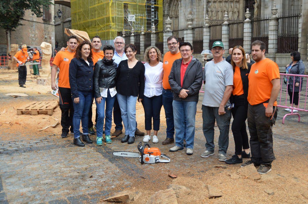 http://www.toledo.es/wp-content/uploads/2019/09/escultura_1-1200x798.jpg. Cinco artistas de carácter internacional demuestran su destreza en la escultura con motosierra en una jornada con apoyo municipal