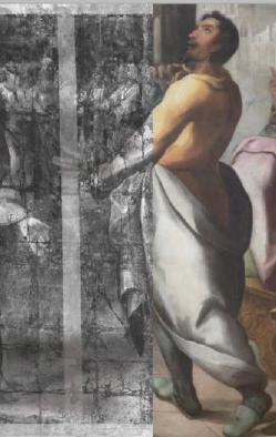 """https://www.toledo.es/wp-content/uploads/2019/09/pentecostes.png. Exposición temporal: El proceso de restauración del """"Pentecostés"""" de Herrera el Viejo"""