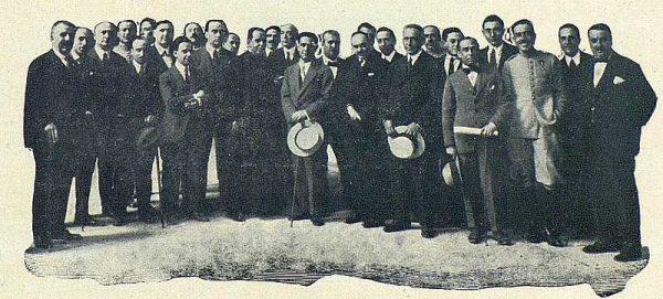 TRA-1924-207 - Ramírez Ángel, hijo predilecto de Toledo, Ramírez Angel y algunos de los que asistieron al banquete