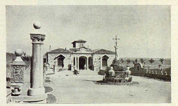 TRA-1929-264-Cigarral El Bosque de los marqueses de la Vega del Retortillo, entrada a la casa-Foto Rodríguez