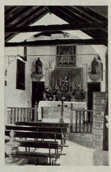 TRA-1929-264-Cigarral El Bosque de los marqueses de la Vega del Retortillo, interior de la capilla-Foto Rodríguez
