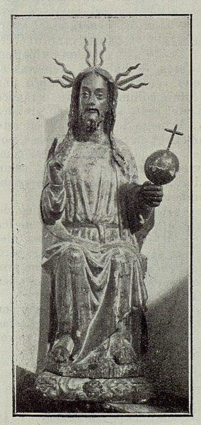 0010_TRA-1929-265-Illescas, iglesia de Santa María, talla en madera de El Salvador-Foto Aguilar