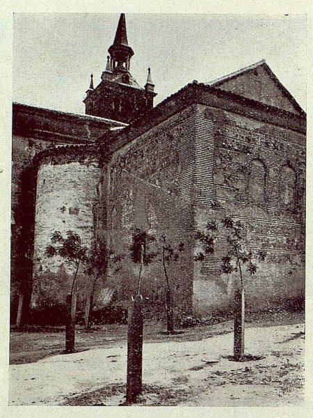 0012_TRA-1929-265-Illescas, iglesia de Santa María, ábside románico-mudéjar-Foto Aguilar