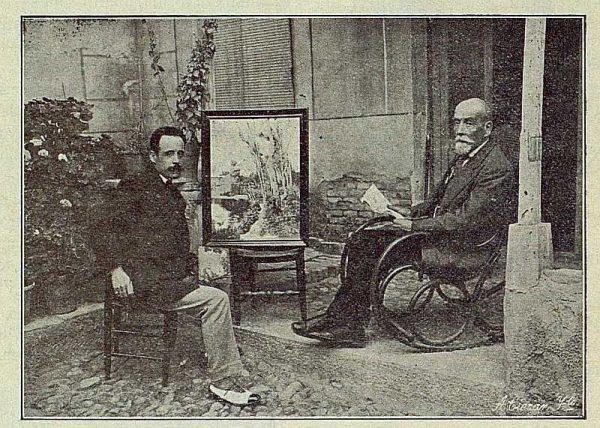 0104_TRA-1916-056-Joaquín Flores pintando y su hermano-Foto Ciarán