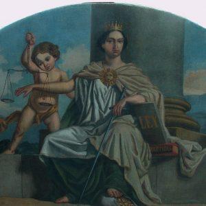 """2019 – Luneto """"Alegoría de la Justicia"""" del pintor Ángel Ludeña (1862)"""