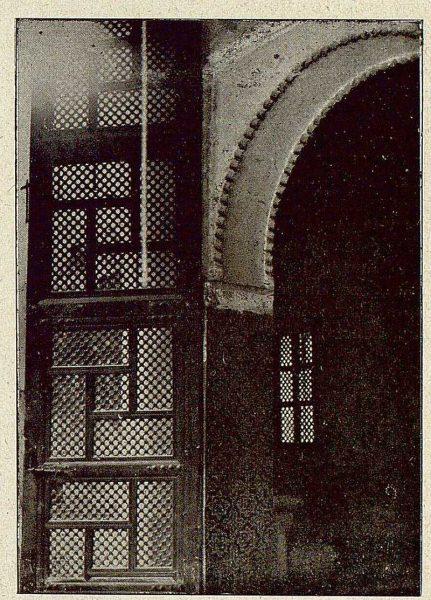 0356_TRA-1921-173-Convento de Santa Isabel, celosía hoja de puerta del claustro grande-Foto Comendador