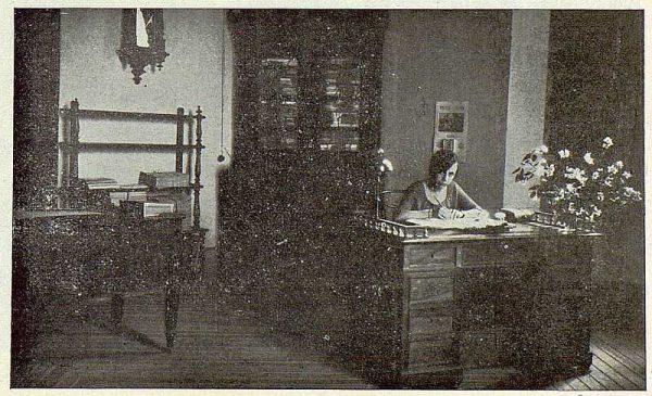 0558_TRA-1923-194-Escuela Normal de Maestras, la secretaria en su oficina-Foto Rodríguez