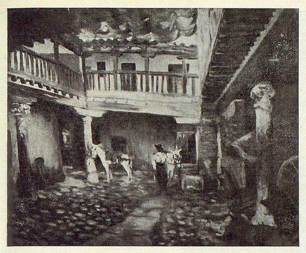 0573_TRA-1923-195-Rafael Estefaní, lienzo del patio de la Posada de la Sangre-Foto Rodríguez