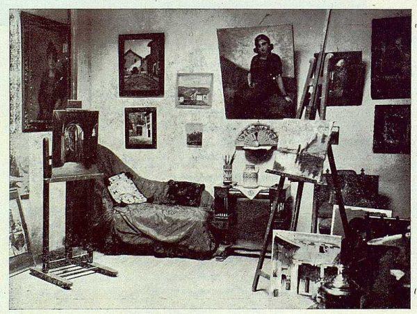 0575_TRA-1923-195-Rafael Estefaní, un rincón de su estudio-Foto Rodríguez