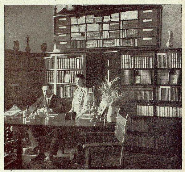 073_TRA-1921-176-Casa de El Bosque, despacho biblioteca