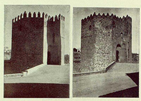 0835_TRA-1929-263-Restauración de monumentos, torres despues y antes de restaurarlas-Foto Rodríguez