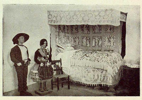 0857_TRA-1929-269-Exposición Regional de Bellas Artes e Industrias, Sinagoga de Santa María la Blanca, alcoba lagarterana-Foto Rodríguez