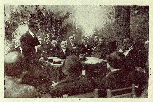 0866_TRA-1929-269-Exposición Regional de Bellas Artes e Industrias, Sinagoga de Santa María la Blanca, el alcalde Ledesma en el acto inaugural-Foto Rodríguez