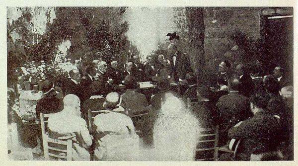 0867_TRA-1929-269-Exposición Regional de Bellas Artes e Industrias, Sinagoga de Santa María la Blanca, el Conde de Casal en el acto inaugural-Foto Rodríguez