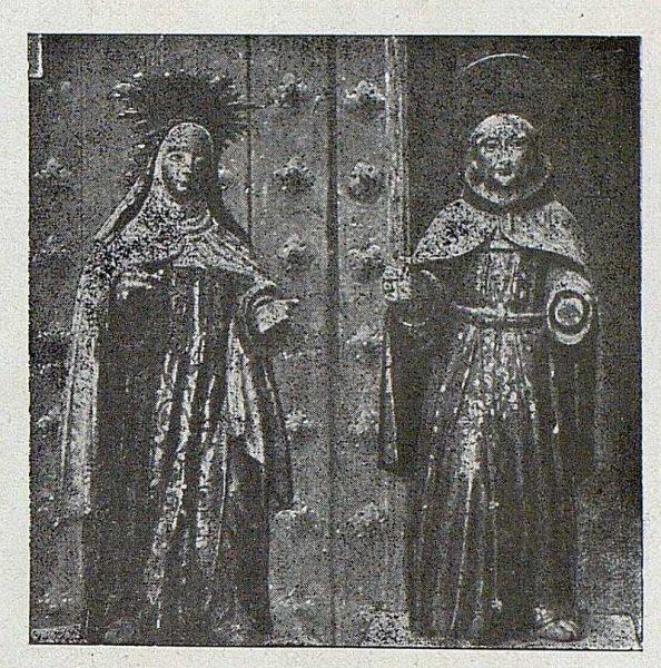 086_TRA-1921-174-Santa Teresa y San Pedro de Alcántara en el retablo de San Vicente de Paula en la Iglesia de San Cipriano