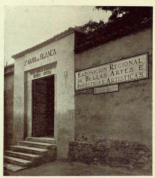 0870_TRA-1929-269-Exposición Regional de Bellas Artes e Industrias, Sinagoga de Santa María la Blanca, entrada a la Exposición-01-Foto Rodríguez