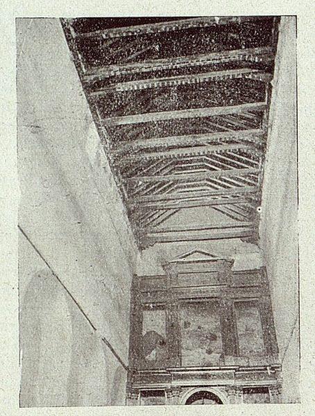 096_TRA-1918-098-Iglesia de San Sebastián, artesonado de la nave central