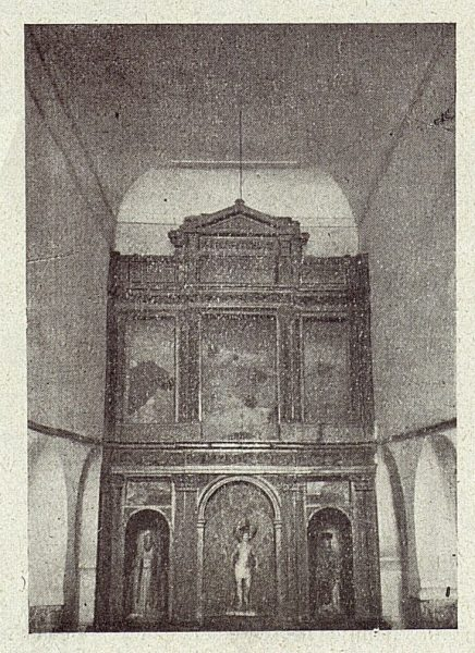 101_TRA-1918-098-Iglesia de San Sebastián, interior